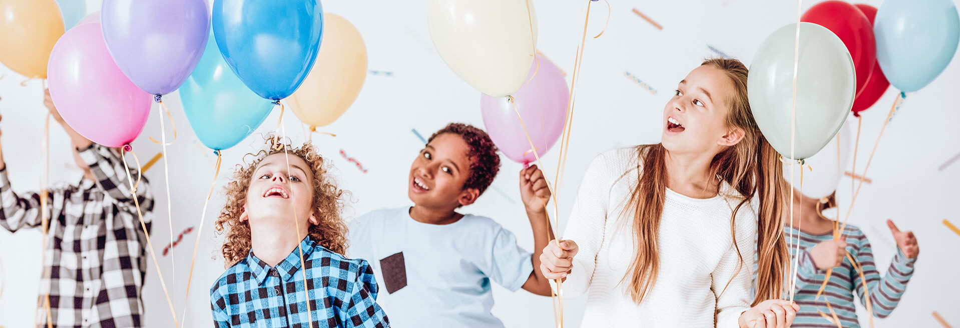 Group of kids with balloons